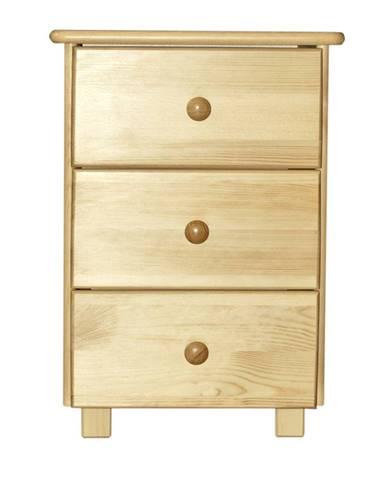 Noční stolek TINA S3, masiv borovice, moření: ...