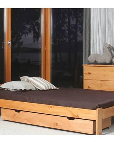 Postel CELINKA 160x200 cm s roštem, masiv borovice/moření olše