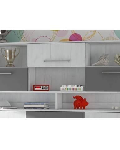 ROGER, nástavba k multifunkční posteli, craft bílý/grafit