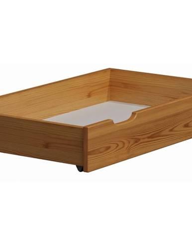 Úložný prostor pod postel 98 cm, masiv borovice/moření olše