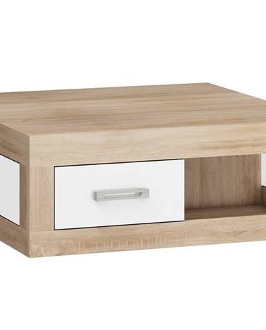 VERIN/02, konferenční stolek, dub sonoma/bílý lesk