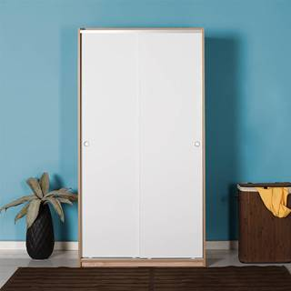 Šatní skříň SWD-402-SB-2, dub sonoma/bílá
