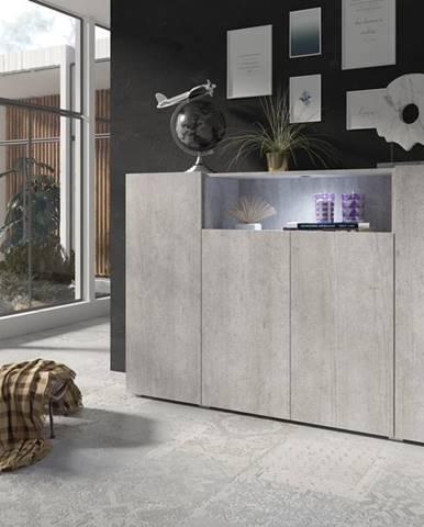 DELOS komoda 4D TYP 48, beton colorado