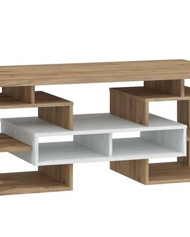 Konferenční stolek W RIO 13, craft bílý/craft zlatý
