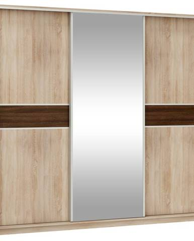 Šatní skříň PUERTO L 240D se zrcadlem, barva: