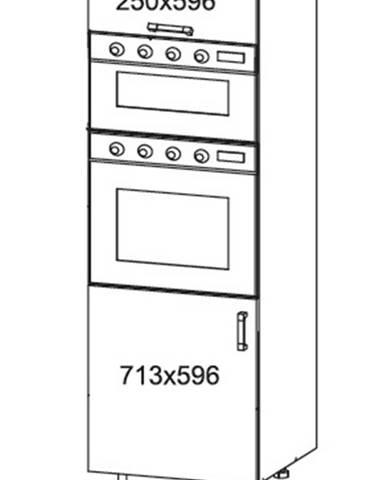 SOLE vysoká skříň DPS60/207O levá, korpus šedá grenola, dvířka dub arlington