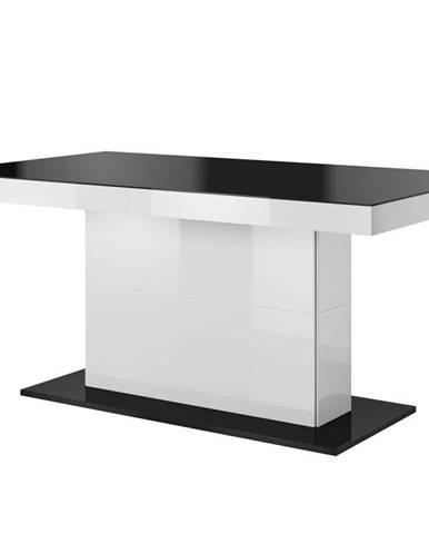 TULSA rozkládací jídelní stůl TYP 81, bílá/černá