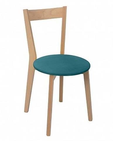 Židle IKKA dub sonoma/tyrkysová (TX069/Otusso 10 tourqus)
