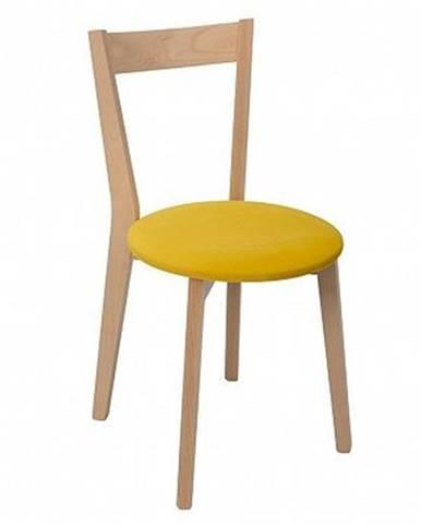 Židle IKKA dub sonoma/žlutá (TX069/Otusso 14 yellow)