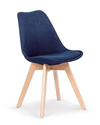 Jídelní židle K-303, tmavě modrá
