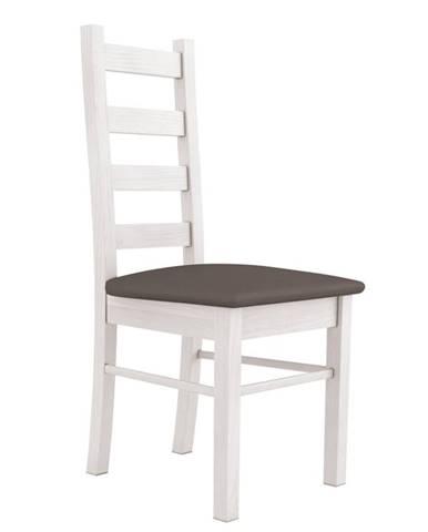 ROYAL jídelní židle, borovice norská/látka ořech