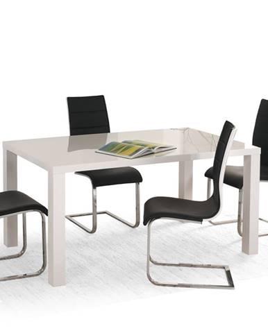 Rozkládací jídelní stůl RONALD 120-160/80, bílá