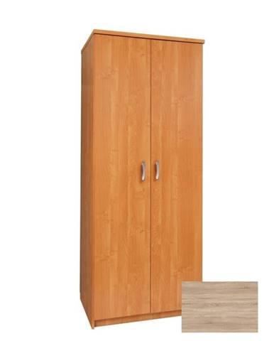 Šatní skříň SLAVIA 80B, barva: dub sonoma