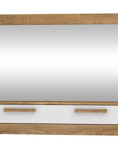 Zrcadlo 1D MAXIM 14, dub burgundský/bílý lesk