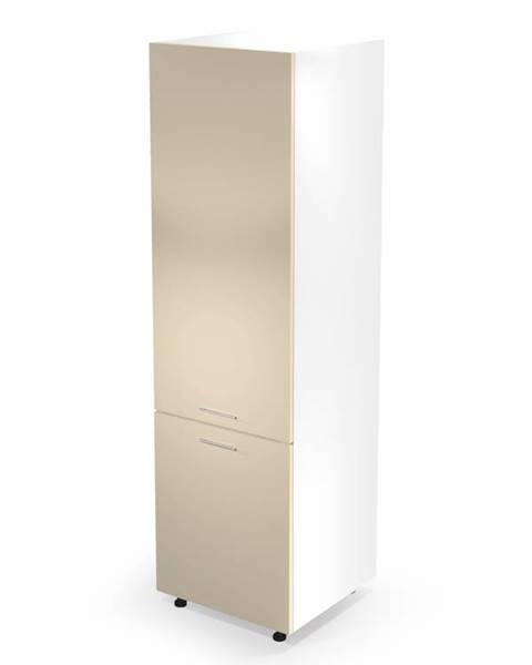 Smartshop Dolní vysoká skříňka VENTO DL-60/214, dvířka: béžový lesk