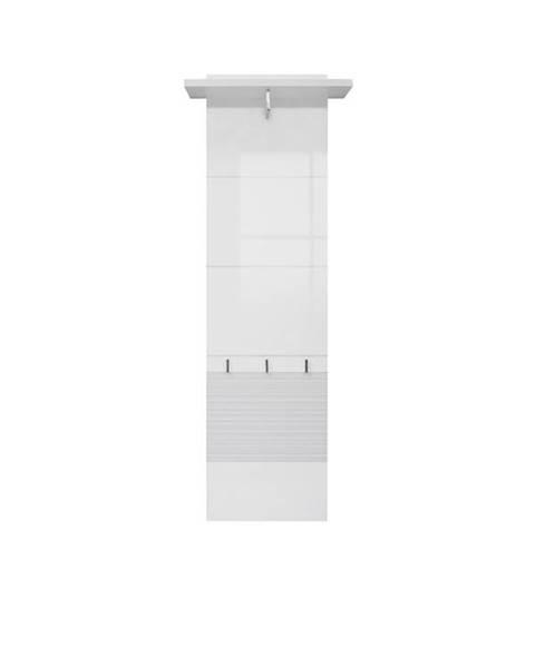 Smartshop Věšákový panel POLARIS TYP 42, bílý lesk