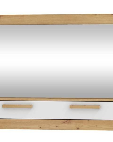 MORAVIA FLAT Zrcadlo 1D MAXIM 14, dub artisan/bílý lesk