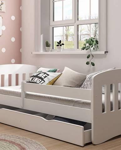 Dětská postel CLASSIC 1 80x180 cm, bílá - CLASSIC 1 bed without mattrress