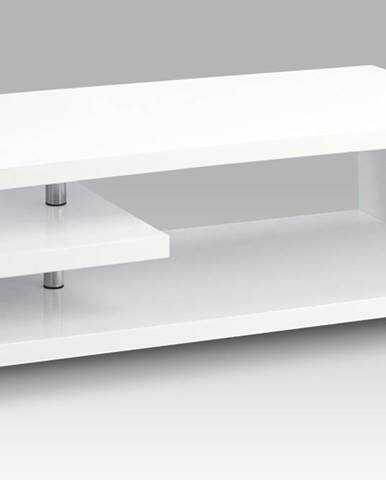 Konferenční stolek AHG-618 WT, bílý vysoký lesk