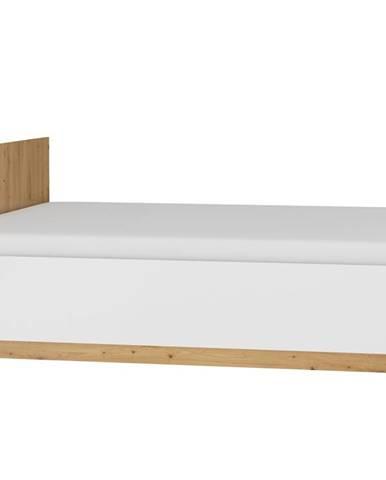 Postel 160x200 MAXIM 18, dub artisan/bílý lesk