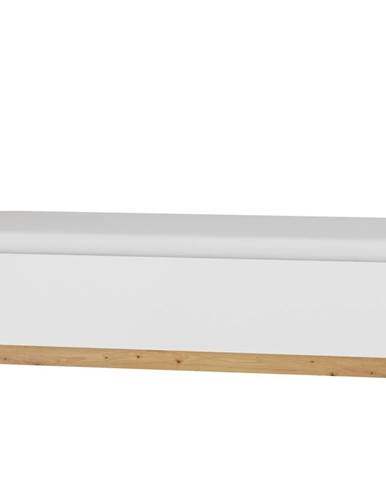 Postel 90x200 MAXIM 19, dub artisan/bílý lesk