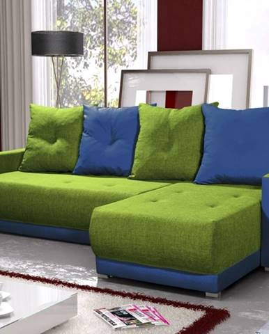 Rohová sedačka INSIGNIA BIS 16, zelená/modrá