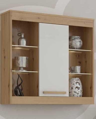 Závěsná skříňka 1D MAXIM 40, dub artisan/bílý lesk