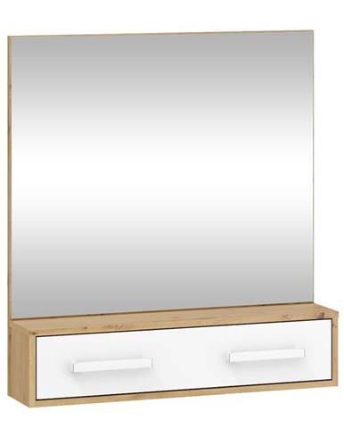 Zrcadlo RIO 10, dub artisan/bílá