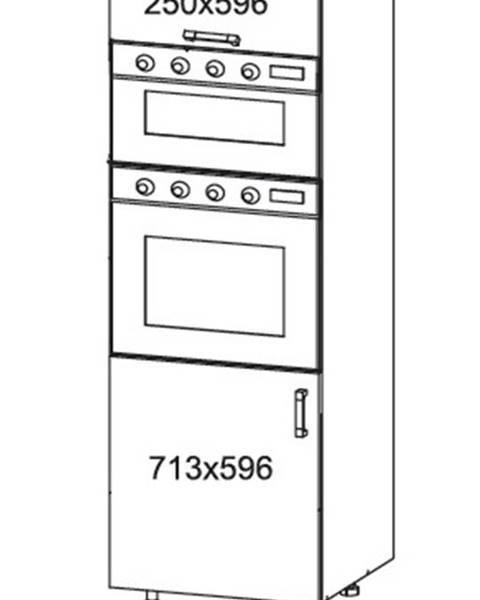 Smartshop EDAN vysoká skříň DPS60/207O, korpus congo, dvířka bílá canadian
