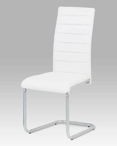 Jídelní židle DCL-102 WT, bílá/šedý lak