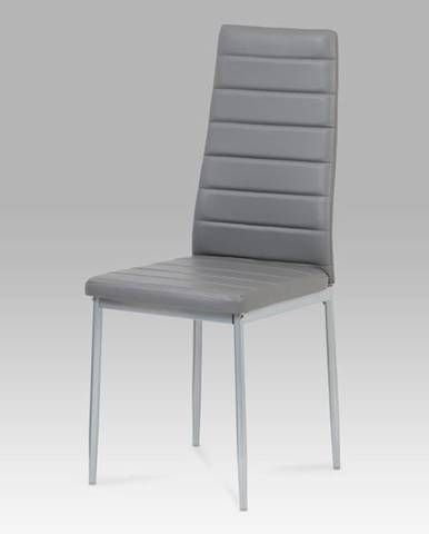 Jídelní židle DCL-117 GREY, šedá/šedý lak
