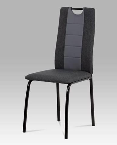 Jídelní židle DCL-399 GREY, antracit/šedá/matná černá
