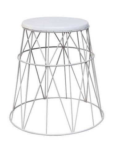 LAVON odkládací stolek, bílá