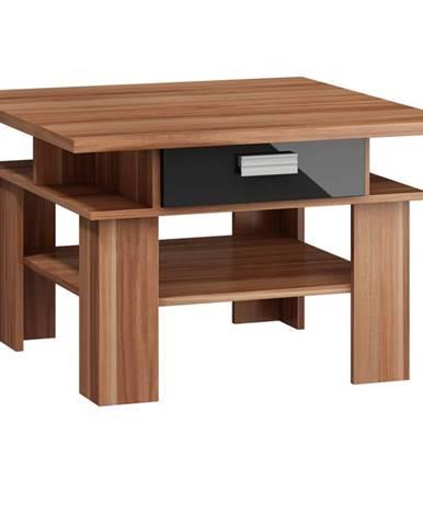 SOLO, konferenční stolek, švestka wallis/černý lesk