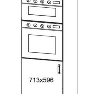 EDAN vysoká skříň DPS60/207O, korpus congo, dvířka bílá canadian