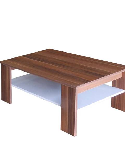 Smarshop Konferenční stolek S67950-I, ořech/bílá