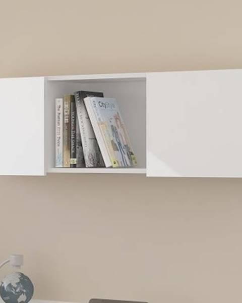 MORAVIA FLAT Závěsná skříňka UNO, bílá/bílý lesk
