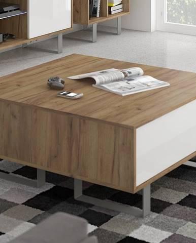 KING 8 konferenční stolek, craft zlatý/bílý lesk