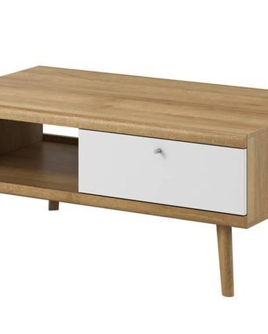 Konferenční stolek PRIMO PL107, dub riviera/bílá