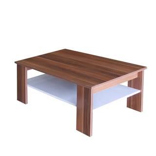 Konferenční stolek S67950-I, ořech/bílá
