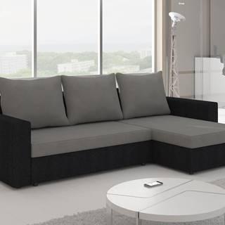 Rohová sedačka LIVIO 9, šedá látka/černá látka