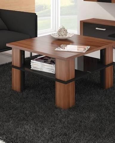 Konferenční stolek FUTURA 1, švestka wallis/černý lesk