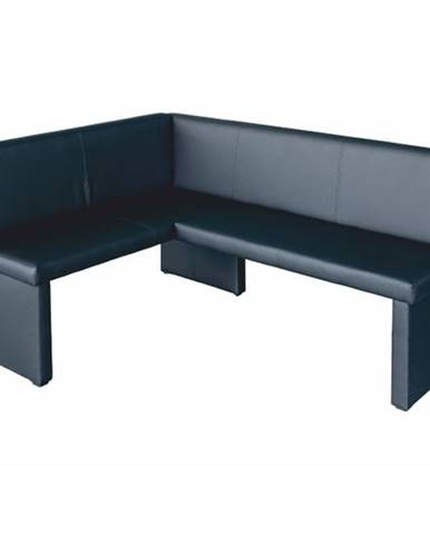 MODERN rohová lavice, levá, černá ekokůže