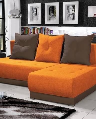 Rohová sedačka INSIGNIA 20, oranžová/hnědá