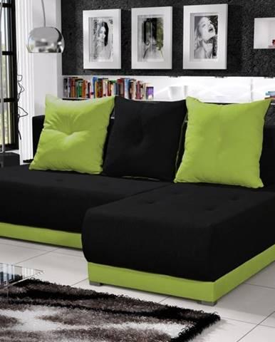 Rohová sedačka INSIGNIA 3, černá/zelená