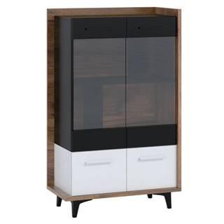 Box 12– vitrína 2D, craft tobaco/bílá/černá