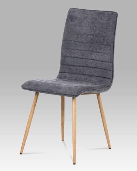 Smartshop Jídelní židle HC-368 GREY2, šedá látka/kov dub