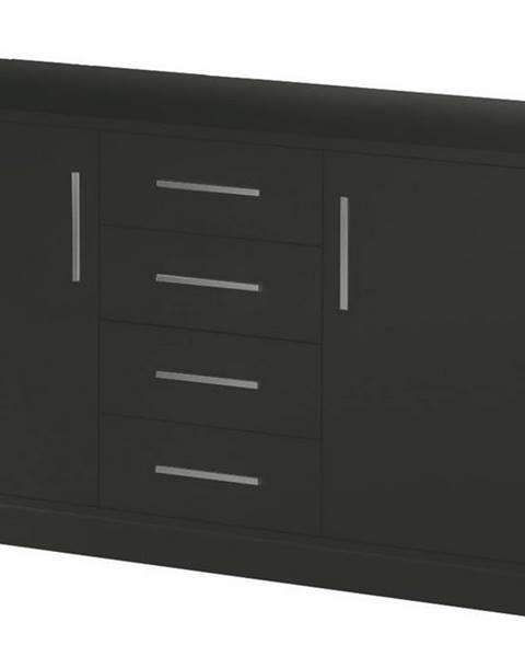 Smartshop Komoda GENEWA 2, černý mat