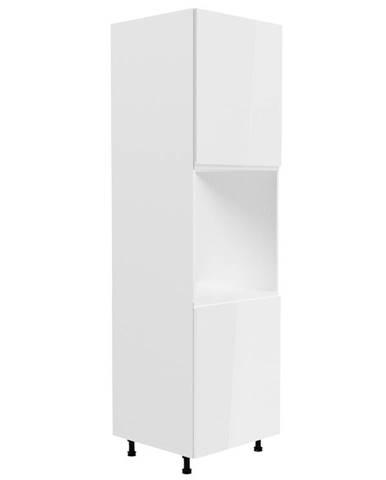 ASPEN, vysoká skříňka pro vestavbu D60P pravá, bílá/bílý lesk