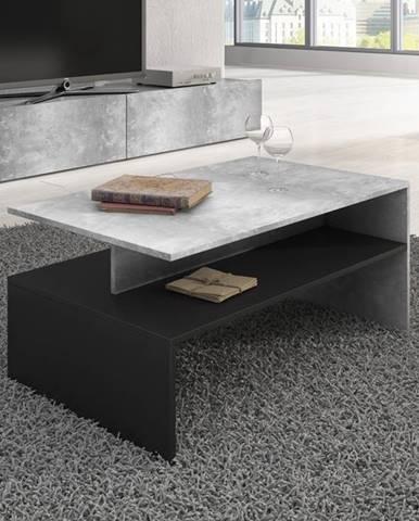 BAROS konferenční stolek TYP 99, beton světlý/černá